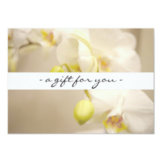 ELEGANT NAME with ORCHIDS Gift Certificate Card