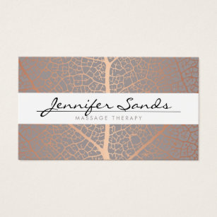 Massage therapy business cards templates zazzle elegant name with rose gold tree pattern business card cheaphphosting Gallery