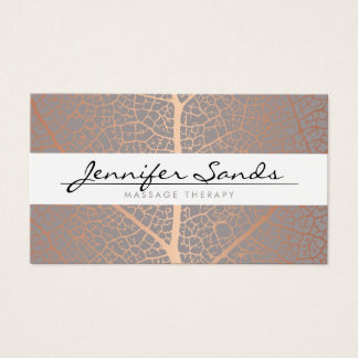 ELEGANT NAME with ROSE GOLD TREE PATTERN Business Card