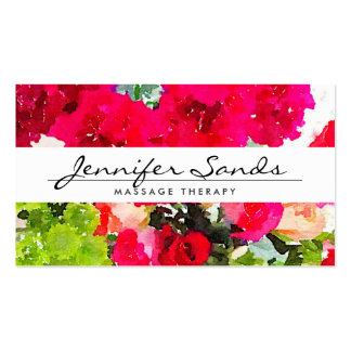 ELEGANT NAME with WATERCOLOR BOUQUET Business Card