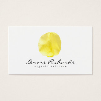 Elegant Name with Yellow Flower Petal I Business Card