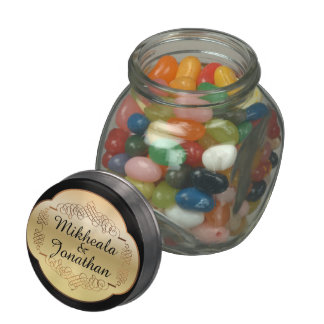 Elegant Names - Your Jelly Beans Glass Candy Jar