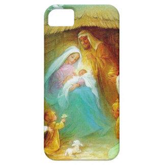 Elegant Nativity scene, Mary Jesus Joseph iPhone SE/5/5s Case