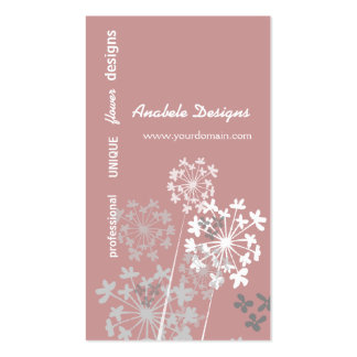 Elegant Nature Spring Summer Garden Flower Double-Sided Standard Business Cards (Pack Of 100)