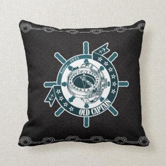 Elegant Nautic Black pattern Cushion Nautic pillow