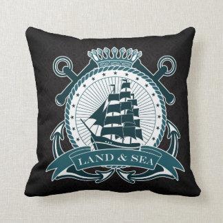 Elegant Nautical Black pattern Cushions