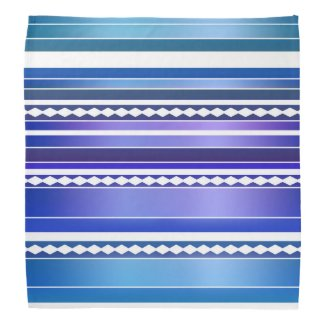 Elegant Nautical Multicolored with White Striped Bandana