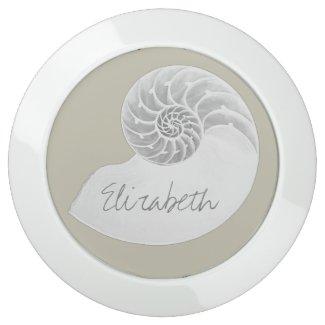 Elegant Nautilus Shell Personalized