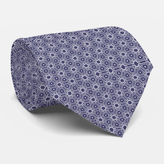 Elegant Navy and Silver Unique Stylish Pattern Tie