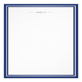 Elegant Navy Blue and Silver Invitation Template