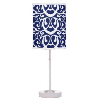 Elegant Navy Blue and White Table Lamp