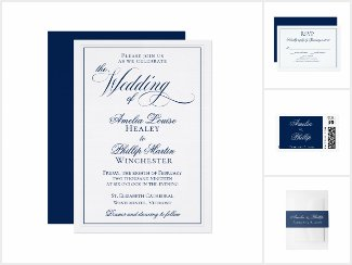 Elegant Navy Blue and White Wedding