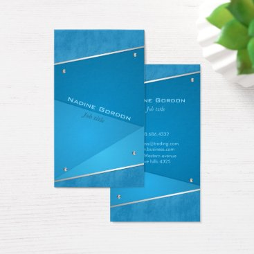 Beach Themed Elegant navy blue blue business card