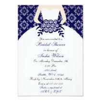 Elegant navy blue Bridal Shower Invitation