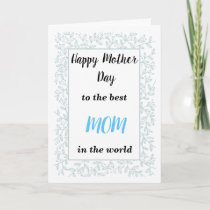 Elegant Navy Blue  Floral mother day card