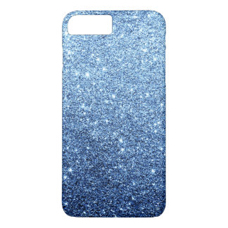 Elegant Navy Blue Glitter Luxury iPhone 7 Plus Case