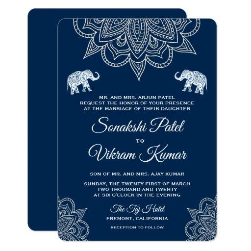 Indian Wedding Invitation: Hindu Indian Wedding Invitations