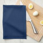 Elegant Navy Blue Monogram Towel<br><div class='desc'>Stylish and chic monogrammed design.</div>