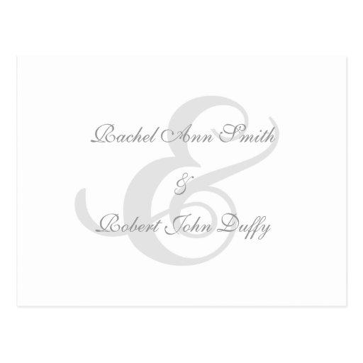 Elegant Navy Blue Swirl Invitation RSVP Postcard