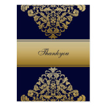 "Elegant ""navy blue"" Thank You Cards"