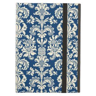 Elegant Navy Blue Vintage Floral Damasks iPad Air Case