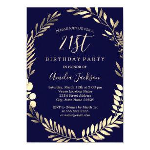elegant 21st birthday invitations zazzle