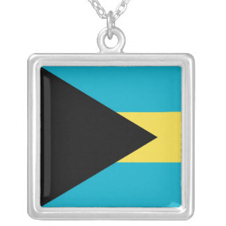 Elegant Necklace with Flag of Bahamas