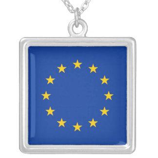Elegant Necklace with Flag of European Union