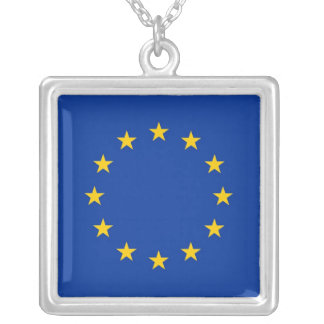 Elegant Necklace with Flag of European Union