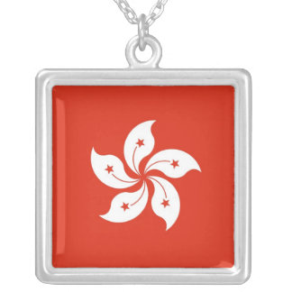Elegant Necklace with Flag of Hong Kong,  China