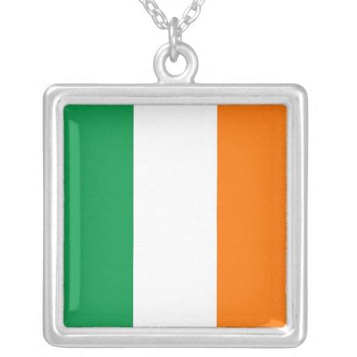 Elegant Necklace with Flag of Ireland