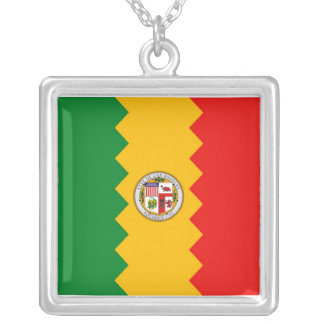 Elegant Necklace with Flag of Los Angeles