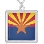 Elegant Necklace with Flag of the Arizona