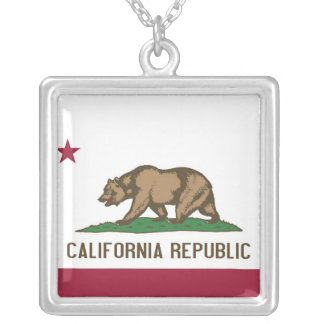 Elegant Necklace with Flag of the California