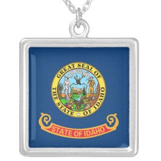 Elegant Necklace with Flag of the Idaho