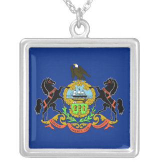 Elegant Necklace with Flag of the Pennsylvania