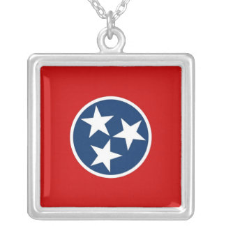 Elegant Necklace with Flag of the Tennessee