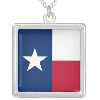 Elegant Necklace with Flag of the Texas