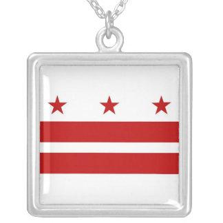 Elegant Necklace with Flag of the Washington DC