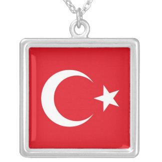 Elegant Necklace with Flag of Turkey