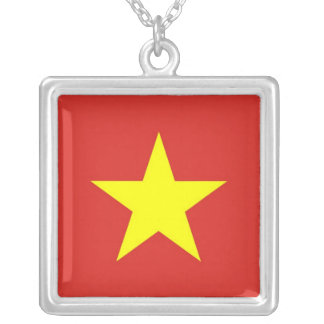 Elegant Necklace with Flag of Vietnam