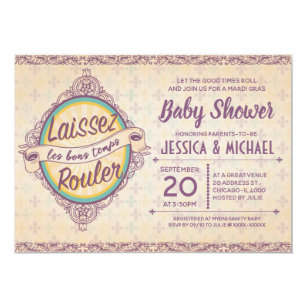 New Orleans Baby Shower Invitations
