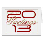 """Elegant """"New Year"""" business red Cards"""