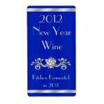 Elegant New Year Wine Bottle Label