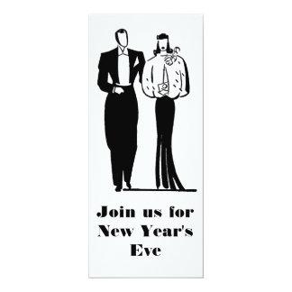 "Elegant New Year's Eve Party Invitation customized 4"" X 9.25"" Invitation Card"