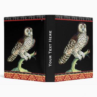Elegant Night Owl Notebook Saverio Manetti Vinyl Binder