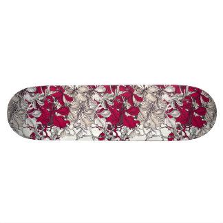 Elegant Nouveau Art vintage floral painting Skateboard