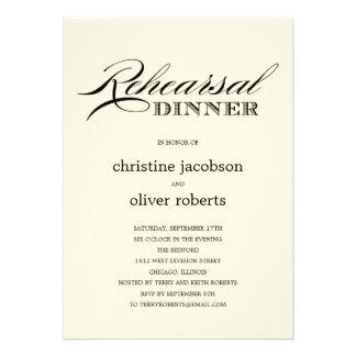 Elegant Occasion Rehearsal Dinner Invitations Invitations