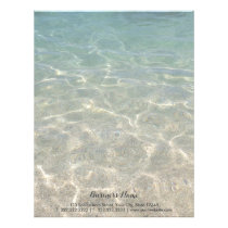 Elegant Ocean Beach Background Letterhead