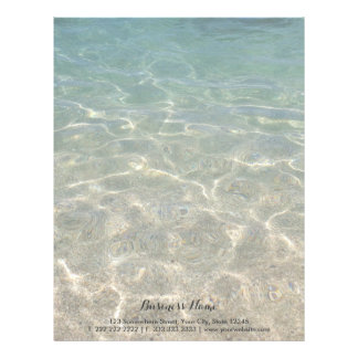 Elegant Ocean Beach Background Letterhead